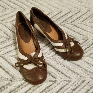 Brown and Cream Tuxedo Heels